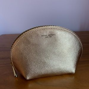 brand new gold henri bendel cosmetics case